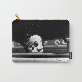Dia de los Muertos Spooky Ride Black and White Photo  Carry-All Pouch