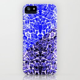 Street Floor Tiles Feeling Blue Tiger-Polka Dot...ish!_Xtreme Blue Edition iPhone Case