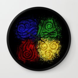 Four Elements Wall Clock
