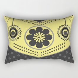 Black and yellow abstract pattern . Rectangular Pillow