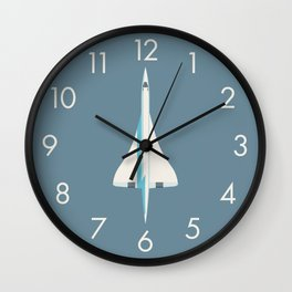 Concorde Supersonic Jet Airliner - Slate Wall Clock