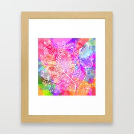 Floral Poly Framed Art Print