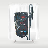 ghostbusters Shower Curtains featuring Proton pack, Ghostbusters by Staermose