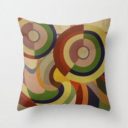 Sonia Circles FIVE Throw Pillow