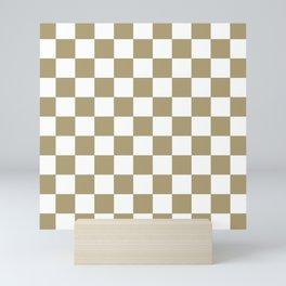 Checker Texture  (Sand & White) Mini Art Print