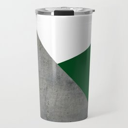 Concrete Festive Green White Travel Mug