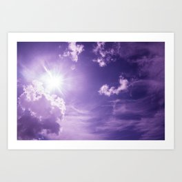 The Sun and Clouds  Art Print