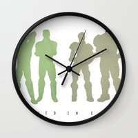 pacific rim Wall Clocks featuring Pacific Rim: We Believed in Each Other by MNM Studios