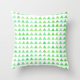 evergreen geometric pattern Throw Pillow