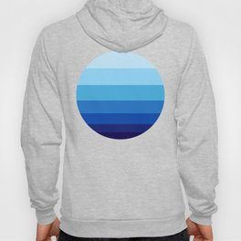 Colorful Blue Gradient Geometric Pattern Hoody