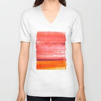 rothko V-neck T-shirts featuring Summer heat by Picomodi