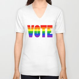 Rainbow VOTE Unisex V-Neck