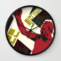 snatch Wall Clocks featuring zee germans  by Andra Vlasceanu