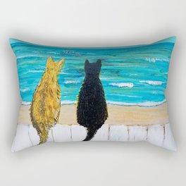Seaside Cats Rectangular Pillow