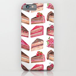 Cake Slices – Pink & Brown Palette iPhone Case