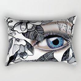 rostros y flores Rectangular Pillow