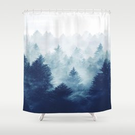 Foggy Woods I Shower Curtain