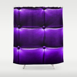 Leather Couch Ultra Violet Shower Curtain