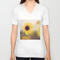 sunflower V-neck T-shirts featuring Sunflower by Jessica Torres Photography