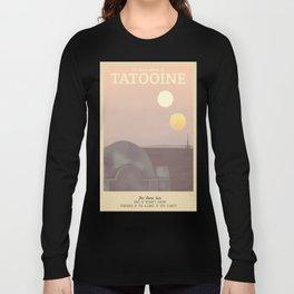 Retro Travel Poster Series - Star Wars - Tatooine Long Sleeve T-shirt