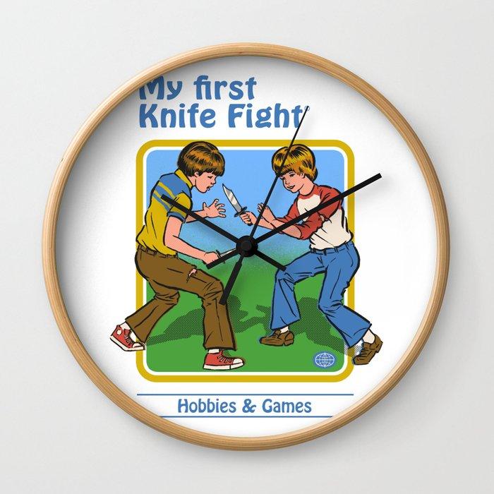 MY FIRST KNIFE FIGHT Wall Clock