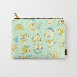 Lemon Drop Hearts Carry-All Pouch
