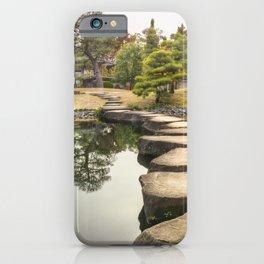 Stone Path Perspective at Koko-en Gardens in Himeji, Japan. iPhone Case