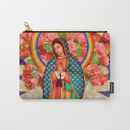 Rainbow Guadalupe Collage Carry-All Pouch