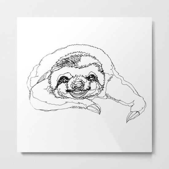 Lazy Slothurday Metal Print