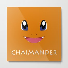 Chaimander all over Metal Print