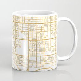 TUCSON ARIZONA CITY STREET MAP ART Coffee Mug