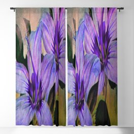 Vintage Painted Lavender Lily Blackout Curtain