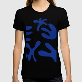 Blue and blue T-shirt