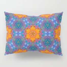 Orange Flowers Pattern Pillow Sham