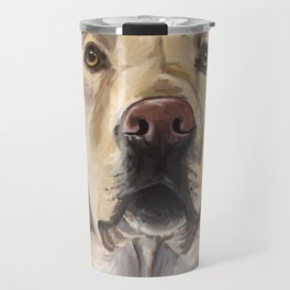 Yellow Lab Art, Cute Dog Painting Travel Mug
