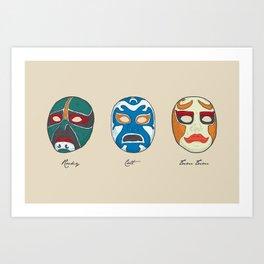 Three Ninjas Art Print