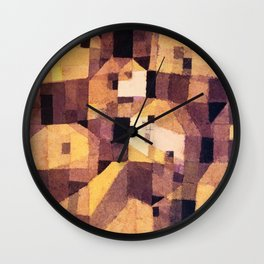 town houses by Paul Klee Wall Clock