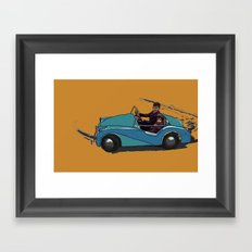 Learning to drive Framed Art Print