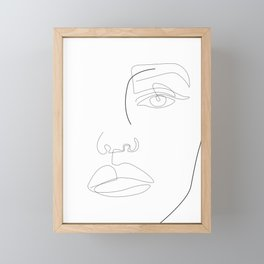 Face Lines Framed Mini Art Print