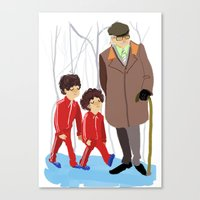 wes anderson Canvas Prints featuring let's shag ass (wes anderson) by Lindsay Pak