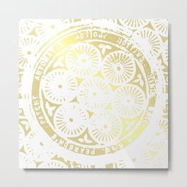 power of one: white gold Metal Print