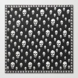 skull pillow alexander mcqueen Canvas Print