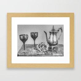 Goblet and flowers Framed Art Print