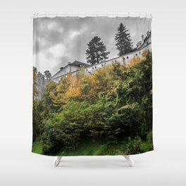 Cesky Krumlov Trees Shower Curtain