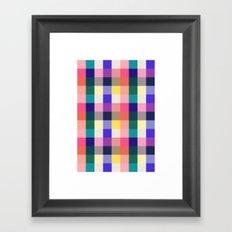 Summer Plaid Framed Art Print