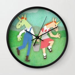 Jack & Jill Unicorn Wall Clock