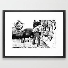 Wastelander Graffiti Framed Art Print