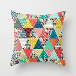 llama geo triangles Throw Pillow