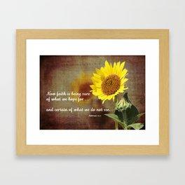 Faithful Sunflower Framed Art Print