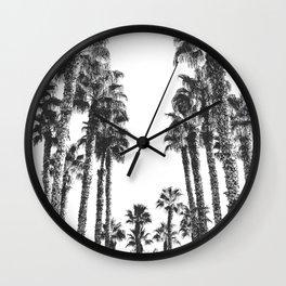 Palm Tree Days {2 of 2} Tropical Black and White Cali Art Print Wall Clock